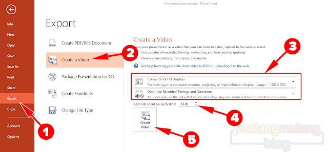 Cara Mengubah Presentasi PowerPoint Menjadi Video
