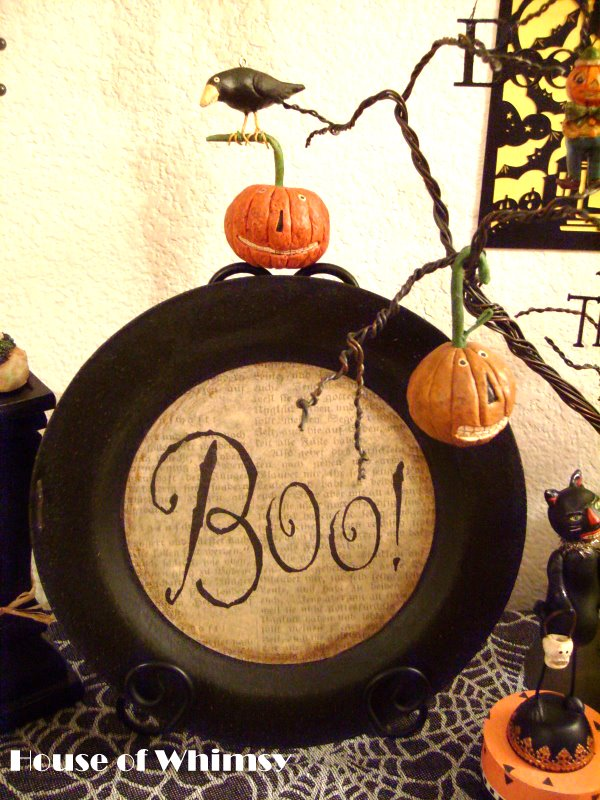 Spooky Halloween Book Page Crafts - Book Page Halloween Charger