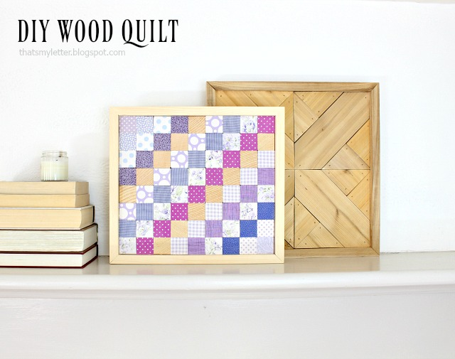 diy wood quilt using scrap fabric