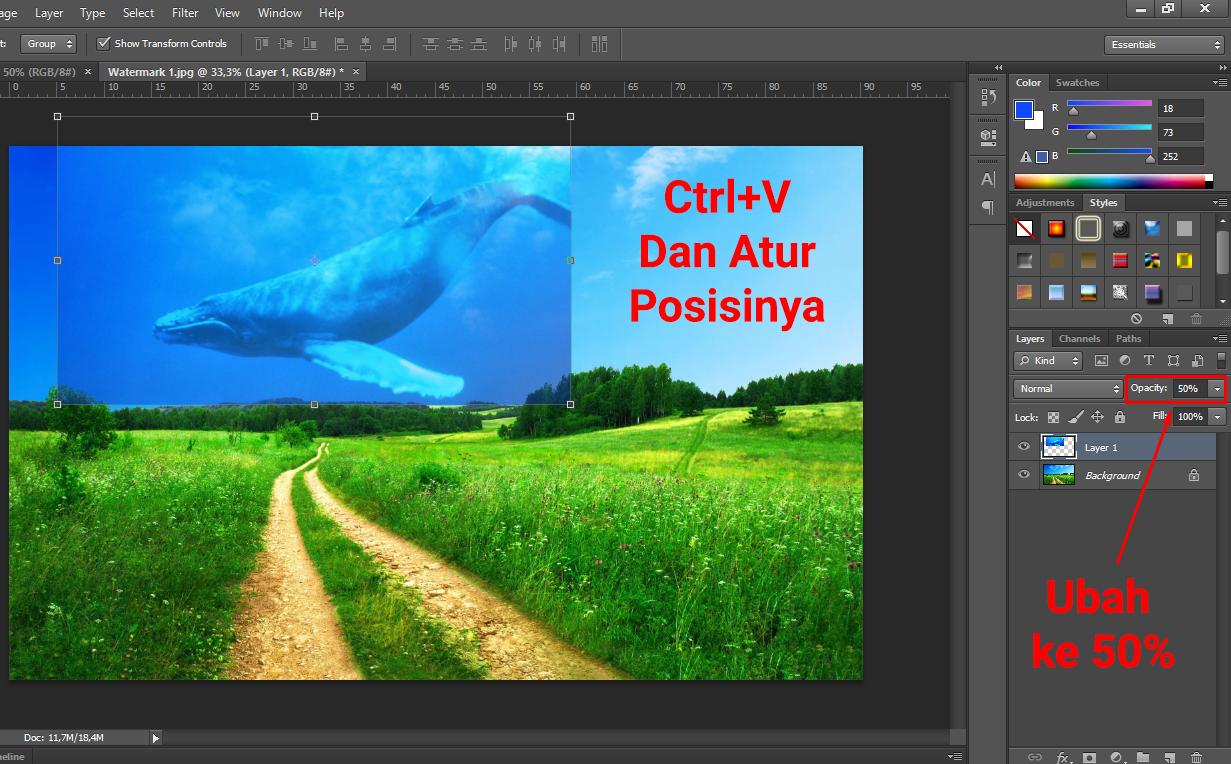 Cara Menggabungkan Gambar Menjadi Satu Dengan Photoshop Espada Blog