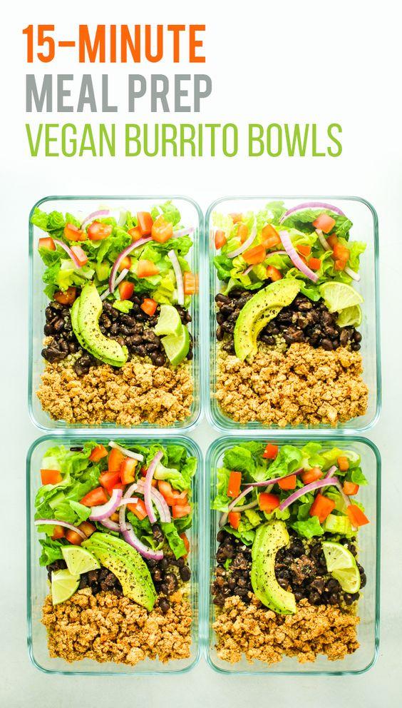Tofu Burrito Bowl Meal Prep #tofu #burrito #mealprep #vegan #veganrecipes