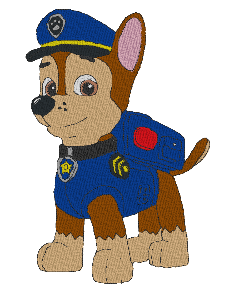 Toxxic Embroidery - FREE Machine Embroidery Designs Paw Patrol Chase Free Machine Embroidery Design
