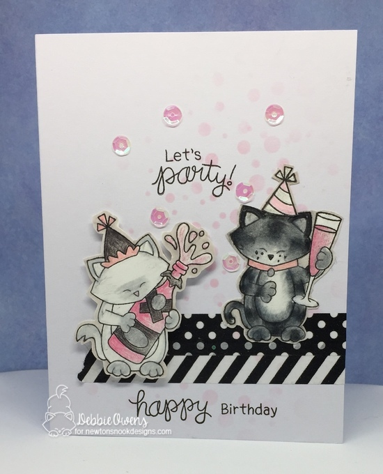 Let's party by Debbie features Newton Celebrates, Newton's New Year, and Bubbly by Newton's Nook Designs; #newtonsnook