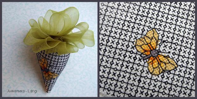 Клубничка с бабочкой