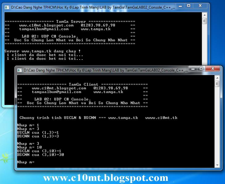 lập trình mạng UDP Console