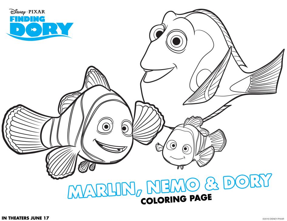 Dibujos de los personajes de Buscando a Dory