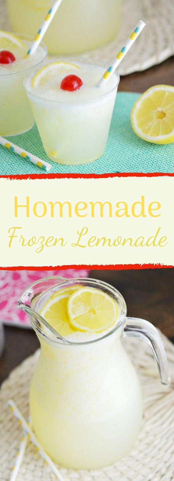 Homemade Frozen Lemonade #drinks #kidfriendly