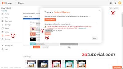 2 Cara Mudah Mengganti Template Situs Blog Blogger