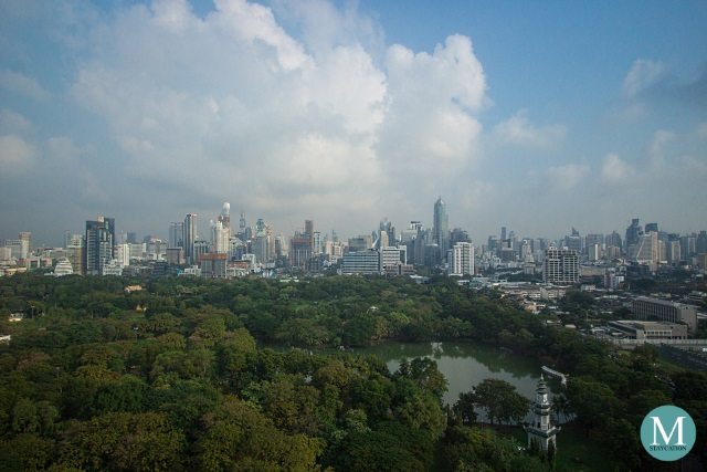 View of Lumphini Park from SO Comfy Room at SO Sofitel Bangkok