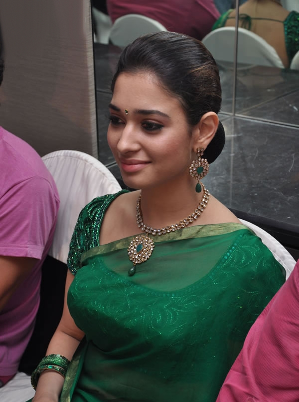 Tamannaah Hot Photos In Green Saree
