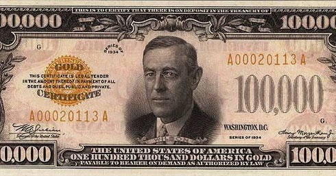 Some Interesting Facts About Paper Money: $100,000 Gold