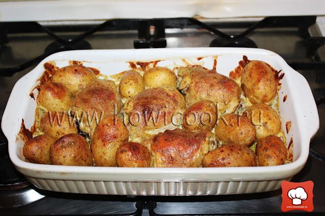 рецепт вкусной курицы с картошкой