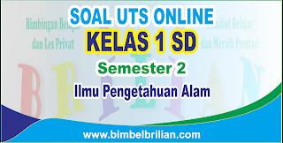 Soal UTS IPA Online Kelas 1 ( Satu ) SD Semester 2 - Langsung Ada Nilainya