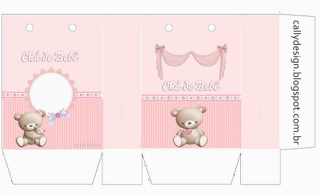 Cajas de Osita con Bebé Congelada para imprimir gratis.
