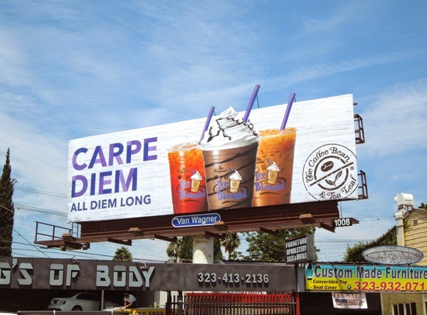 Carpe Diem Coffee Bean special extension billboard