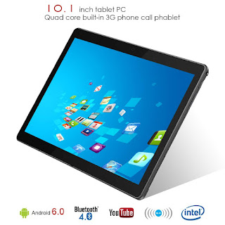 """10.1"""" Inch Google Android Tablet,PADGENE Android7.0 Phablet Tablet Quad Core Pad with Dual Camera, 1GB Ram+16GB Disk, Wifi, Bluetooth, 1280x800 HD IPS screen, Google Play (QT-10.1 Black)"""