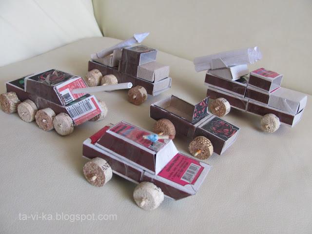машинки из спичечных коробков