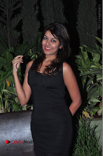 Actress Kavya Kumar Stills in Black Short Dress at F Club pre soft Launch  0015.JPG
