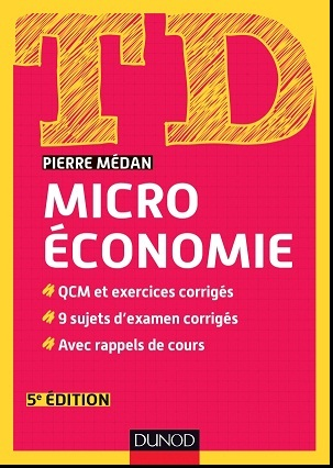 Livre : TD Microéconomie, Pierre Médan