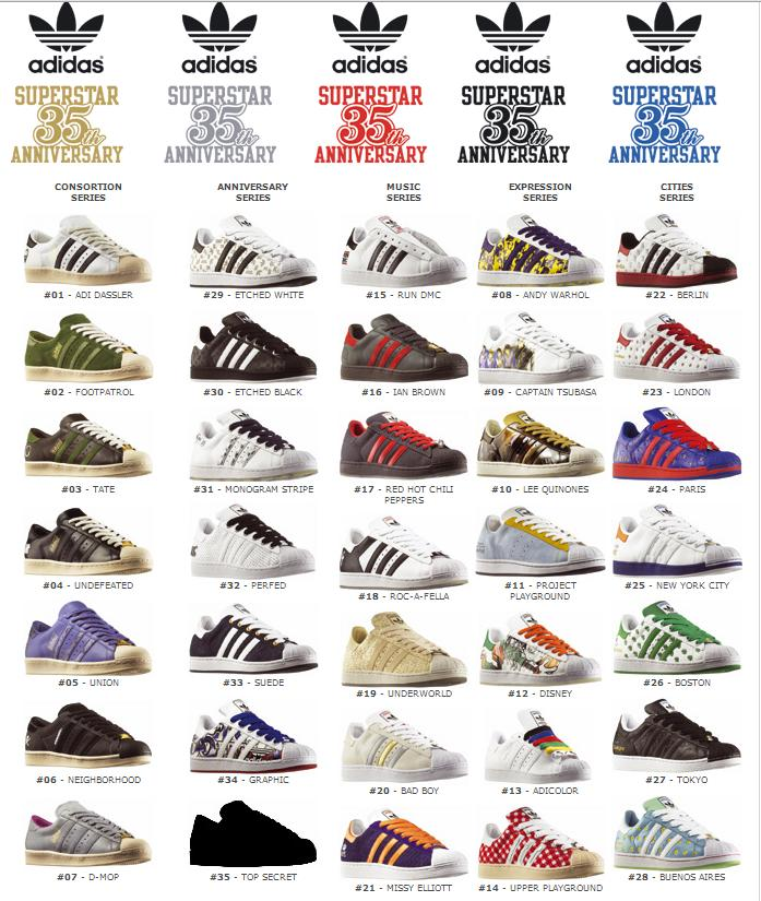 on sale 5417e 3c270 Adidas Superstar Different Colors