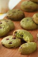 Choco Chips Matcha Cookies untuk Lebaran