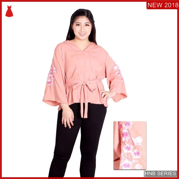 HNB012 Model Blouse Peplum Ukuran Besar Jumbo Modis BMG Shop