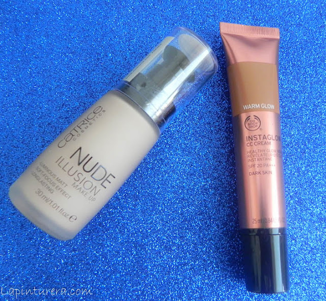 maquillaje catrice y the body shop