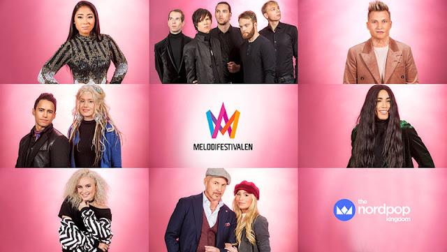 Participantes de la cuarta semifinal del Melodifestivalen 2017