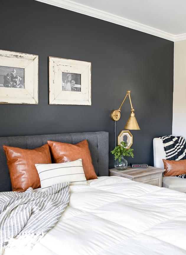 dark and moody modern farmhouse bedroom update little on modern farmhouse master bedroom ideas id=79784
