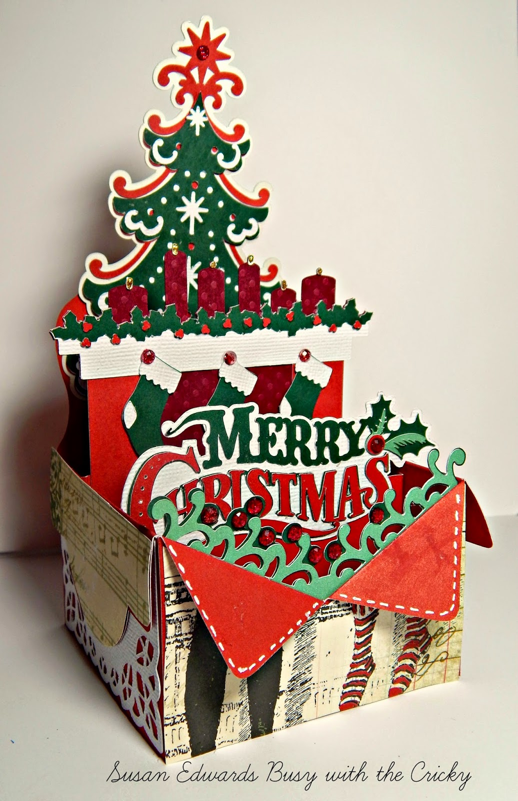 Download Merry Christmas Festive Box Card ~ Busy with the Cricky