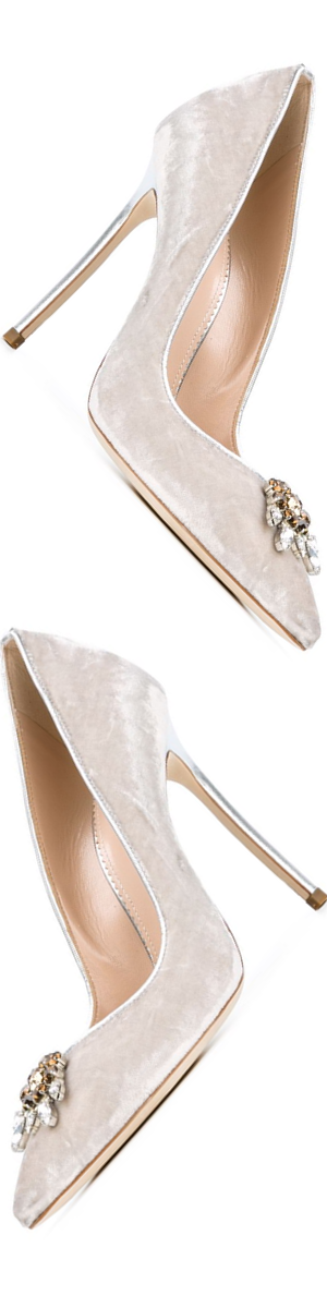 DSQUARED2  Embellished Suede Pumps