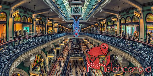 MELANCONG.ID - Wisata belanja dan arsitektur mewah di Queen Victoria Building