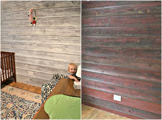 Baby Girl Nursery with a Planked Wall, Pink, White, and Gray // Before and After