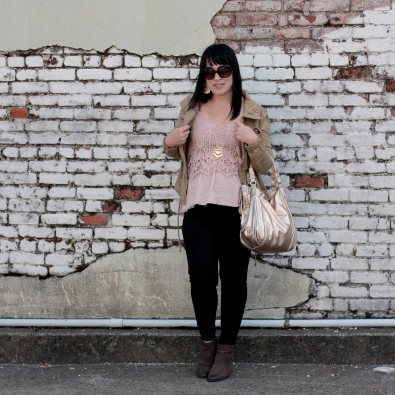 Quick cold weather fashion DIY: Romper to top refashion (plus, a thrifted outfit!)