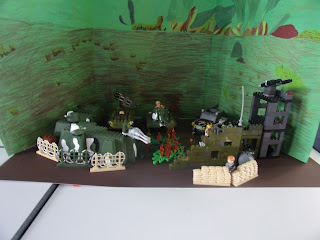 lego war scene in school project