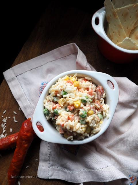 Sałatka  ryżowa z mixem warzyw