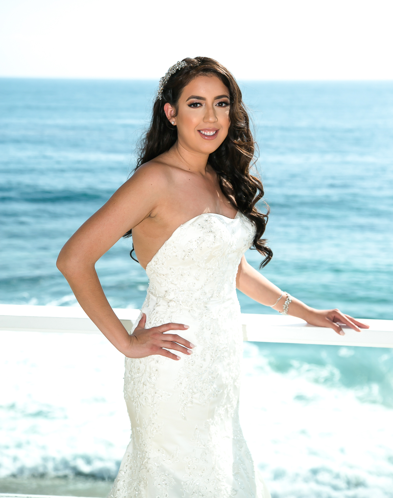 Laguna Beach Wedding, Tivoli Too Wedding, Oleg Cassini Wedding Dress, Oleg Cassini Ivory Dress, Ivory Wedding Dress, Davids Bridal Wedding Dress, Beach Wedding, Blue By Betsey Johnson Heels, Blue by betsey Johnson Updo Sandal, Bow heels, Strapless Wedding Dress