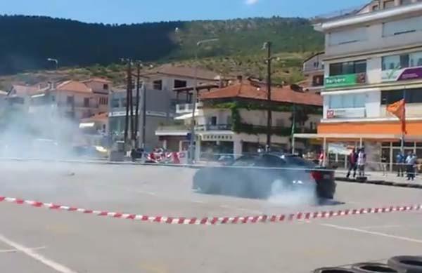 Διαγωνισμός Drift στην Καστοριά (βίντεο)