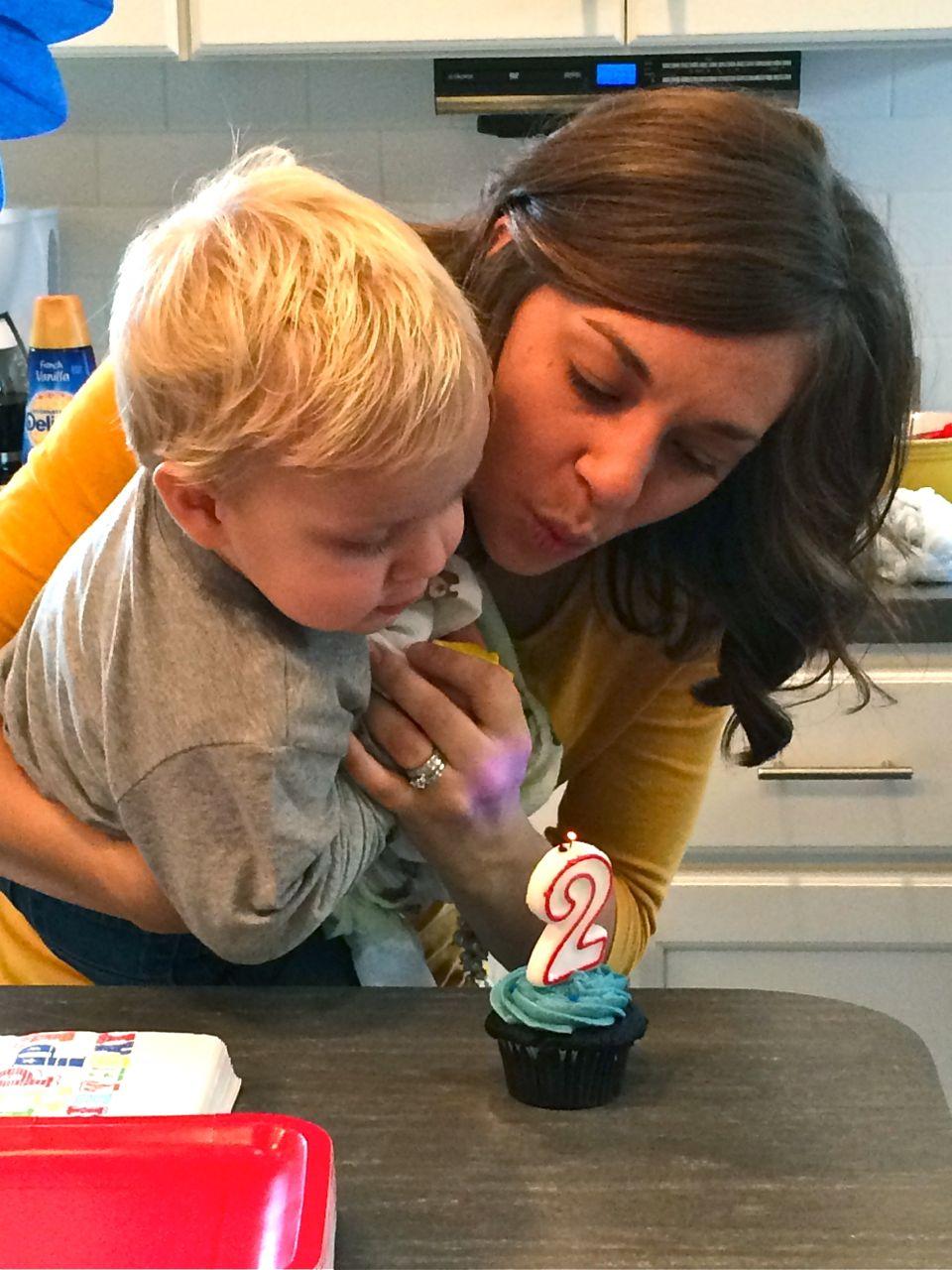 Delectably Mine Thomas Train 2nd Birthday Cupcakes