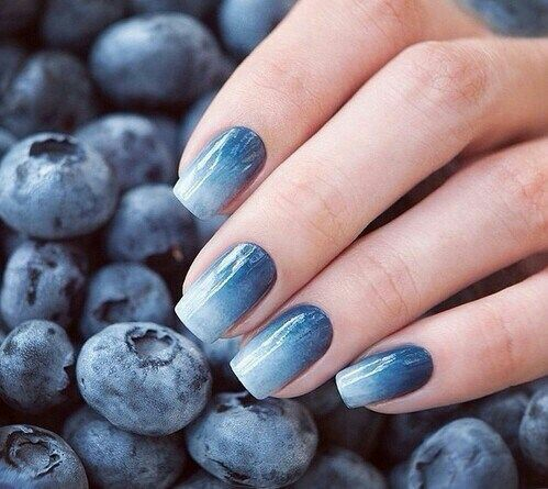Blue berry nail art