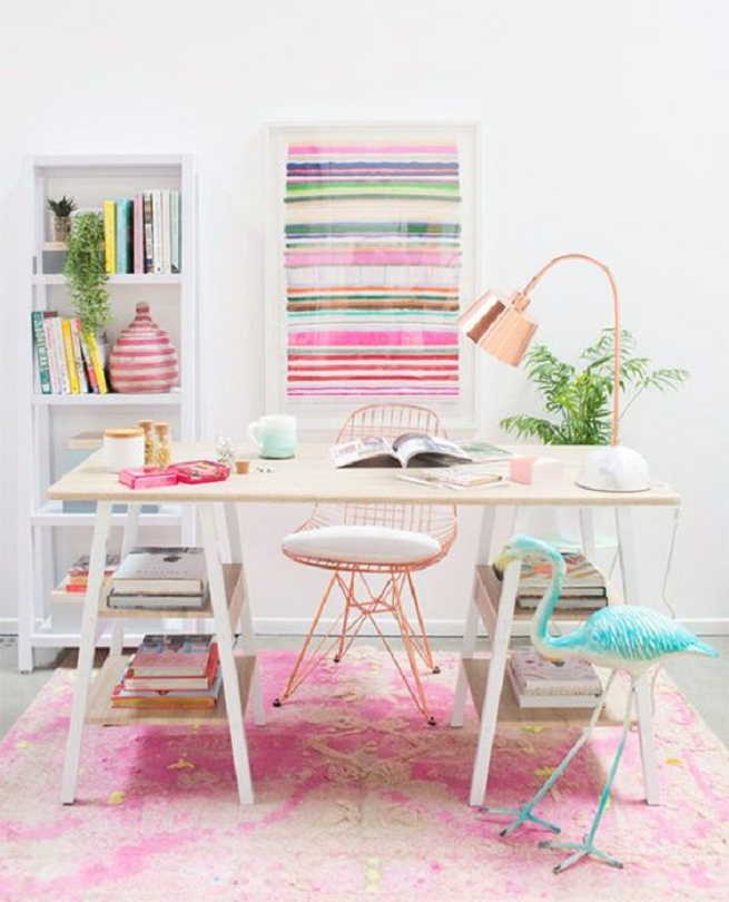Dream Home Ideas Pink Office