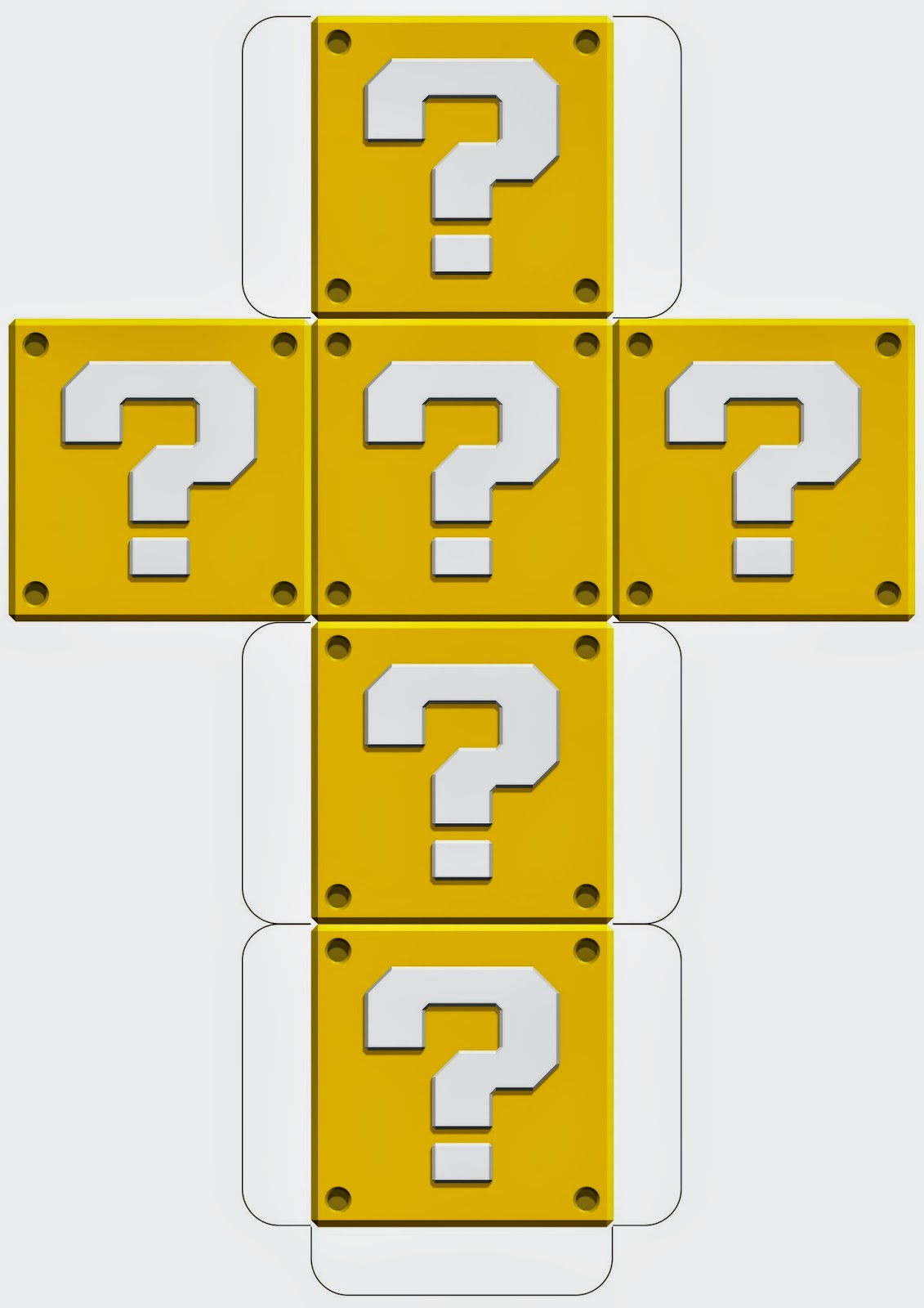 Super Mario Downloadable Question Block Template