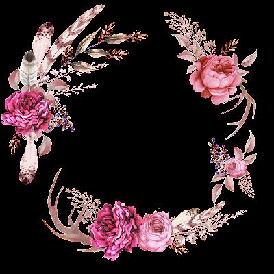 Psiu Noiva - Mais de 30 Frames Florais Para Download Grátis 3