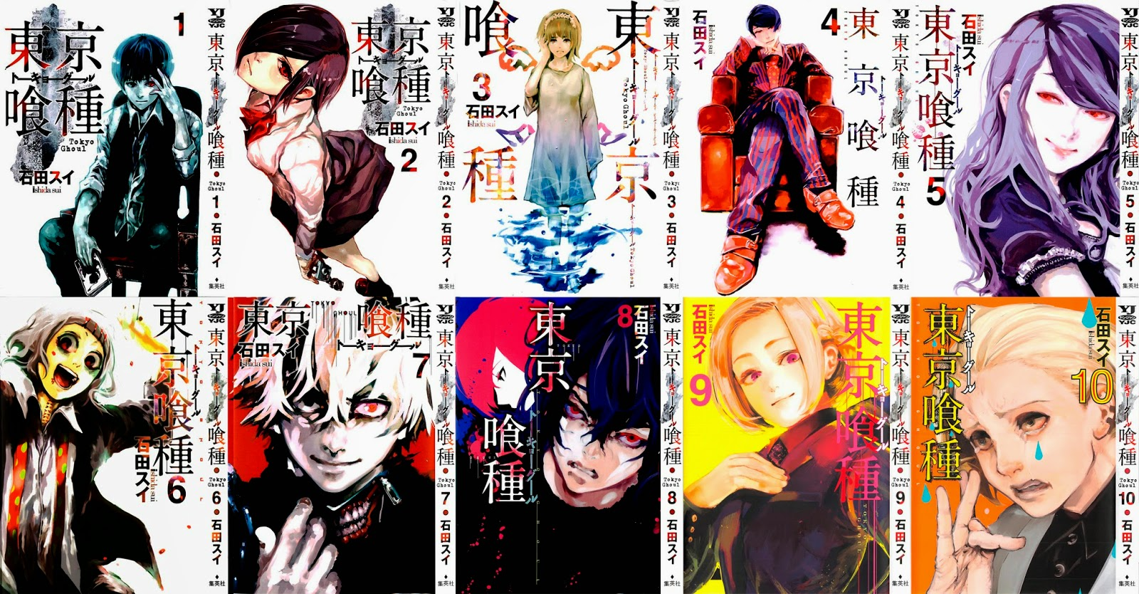 Tokyo Ghoul (Manga) portadas