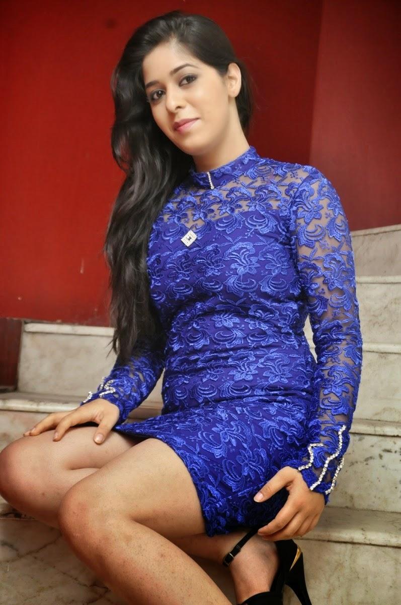 Garima Jain Hot Actress Telugu Promotion Nawab Basha Movie -9183