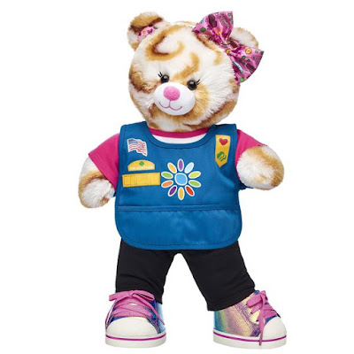 Official Daisy Girl Scout S'mores Campout Bear from Build-A-Bear is available for a limited time only.