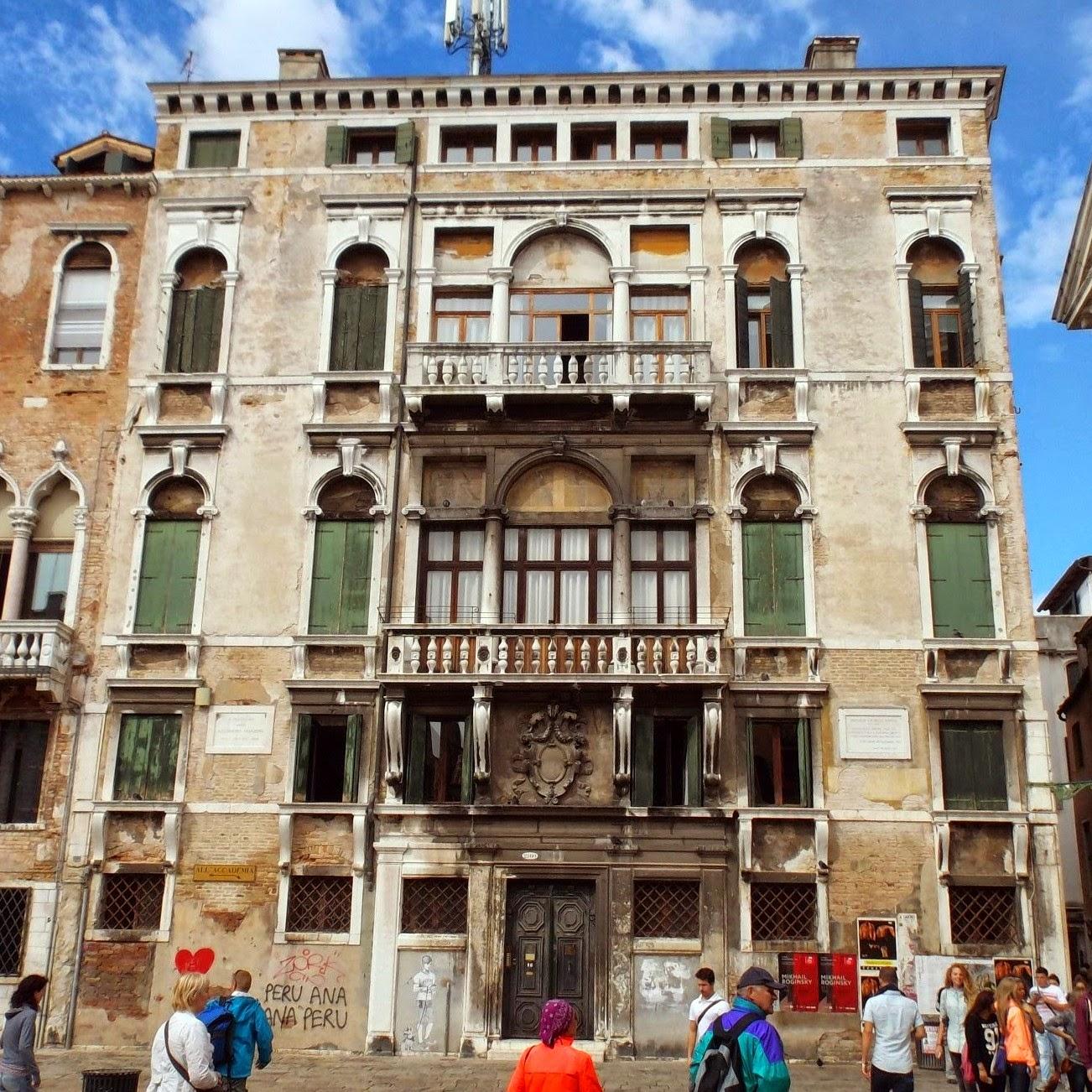 Palazzo Bellavite in Venice, once the home of the poet, Giorgio Baffo.