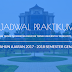 Jadwal Praktikum Jurusan Teknik Informatika Semester Genap 2017-2018