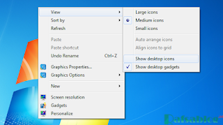 Cara Menyembunyikan Icon di Desktop pada Windows