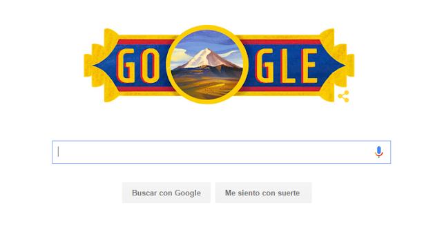 Google celebra con un doodle el Día de la Independencia de Ecuador